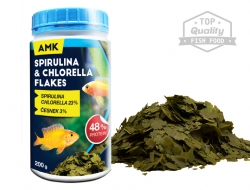 Spirulina & Chlorella flakes  – (200 g / 1000 ml)